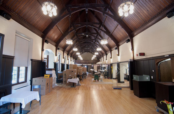 Construction of the new Phoenix's interior in the Refectory building above Bridges Cafe is in its final stages.