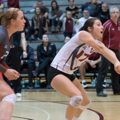 Storming into winter Consistency, flexibility and veteran leadership have given the women's volleyball team a solid start to the winter half of their schedule