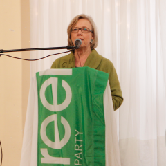 Green Party leader visits Hamilton Elizabeth May talks Bill C-51 and the upcoming federal election
