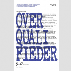 [REVIEW] Overqualifieder The Canadian writer's second literary effort revolving around cover letters fell desperately flat. I felt like I was Overqualifieder to read this collection