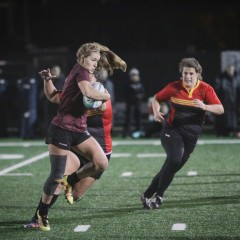 Down, but not out While the McMaster women's rugby team lost the OUA championship game to Guelph, their season is far from over