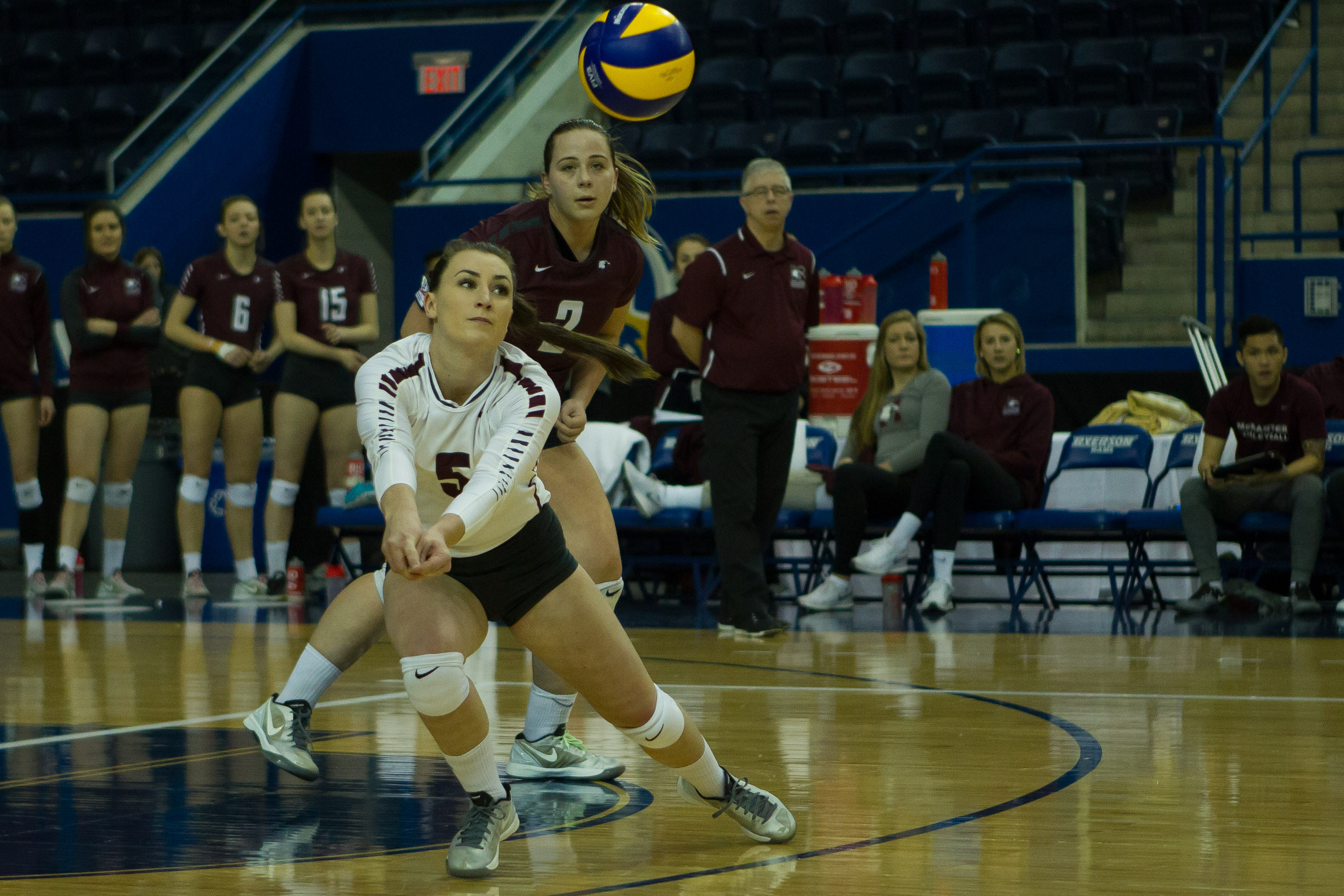 Marauders fall short at nationals Coming off an OUA final victory, the McMaster women's volleyball team was unable to carry that momentum into the U Sports national championship