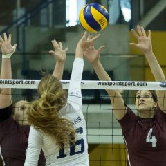 A bump in the road The 2017-2018 season started unexpectedly for the reigning women's volleyball champions, but was just the beginning of a promising campaign