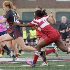 On to the post-season The women's rugby team's undefeated bid falls short at the hands' of the Guelph Gryphons in the regular season finale