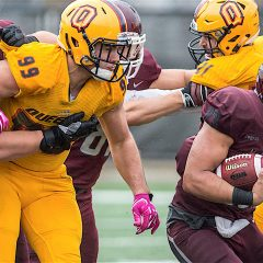 Rushing to the Semi-Finals The Marauders advance to the OUA semi-finals after a grueling battle against the Gaels