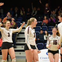 Strength down the middle The women's volleyball team's two middle blockers Maicee Sorensen and Hailey Kranics expand on their shared responsibilities and strong relationship