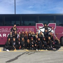 Only going up The McMaster cheerleading team took a weekend trip to Québec where they finished off their season with a near-perfect routine to compete with other university teams