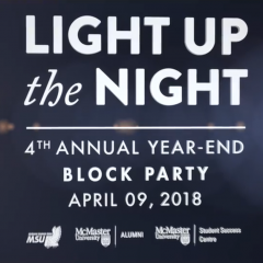 Light Up the Night 2018 Congratulations to McMaster University's 2018 graduating class!