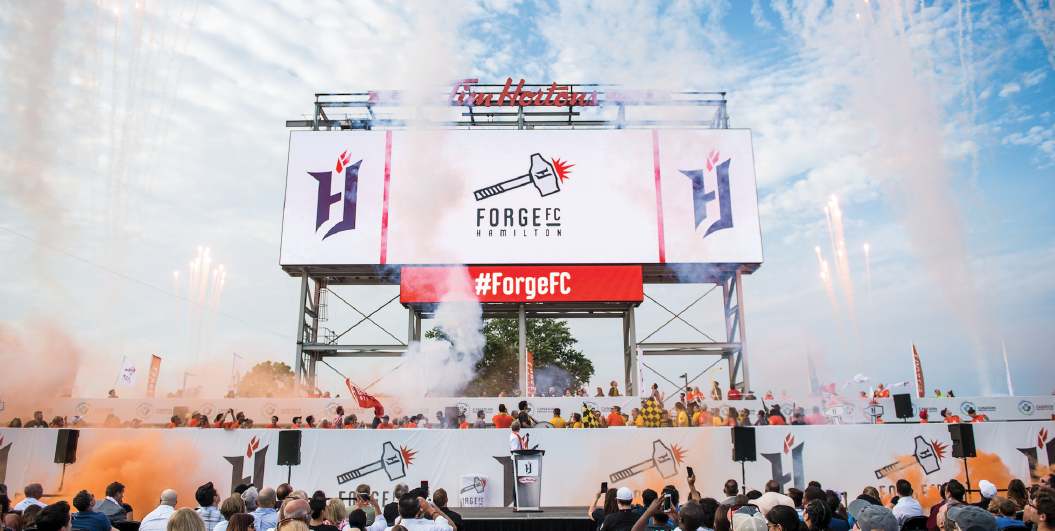Kicking off Forge FC Hamilton's professional soccer club, Forge FC, will launch their inaugural season in April 2019