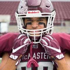 Lyons takes the lead Fourth-year running back Jordan Lyons leads a young McMaster football team