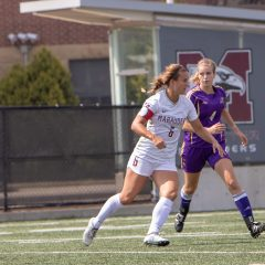 Marauders' Roberts off to a kicking start Women's soccer forward Steph Roberts makes a big impact in her first few games as team captain