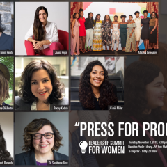 Press for Progress at the Leadership Summit for Women