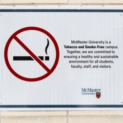 Putting an end to vaping on campus Vaping regulations at McMaster have gone up in a puff of smoke