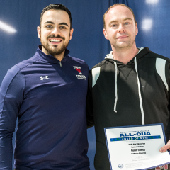 Water polo Coach of the Year Fairley on winning bronze After several years of missing the podium, the men's water polo team has captured some new hardware under OUA Coach of the Year Quinn Fairley
