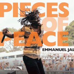 Celebrated peacemaker discusses how students can make change World Vision McMaster hosts peacebuilder and artist Emmanuel Jal in a panel discussion on combatting injustice