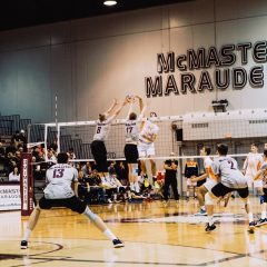 Men's volleyball knocked out of U Sports tournament Despite missing out on a national medal, Andrew Richards helped the Marauders continue to build on their legacy in his final season