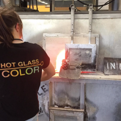 The glass is greener Learning about the art of glass blowing