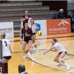 Closing out the term 4-4 The women's volleyball team sports a .500 record going into the break
